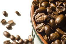 Free Coffee Beans Background Royalty Free Stock Photography - 4685597