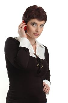 Free Business Woman  Speaking On The Mobile Phone Royalty Free Stock Photo - 4685825