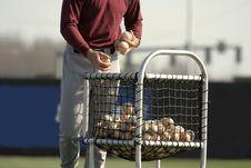 Baseballs And Baseballs Player Royalty Free Stock Image