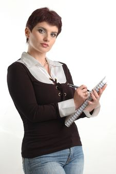 Free Buisness Women Writing In The Notebook Stock Photography - 4685892