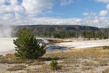 Free Volcanic Landscape In Yellowstone NP Stock Images - 4685954