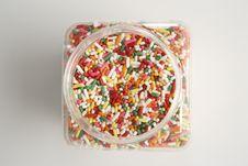 Free Sprinkles Jar Overhead Royalty Free Stock Photo - 4686425