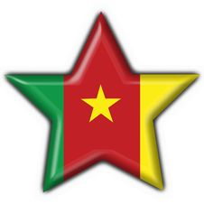 Cameroon American Button Star Flag Royalty Free Stock Photo
