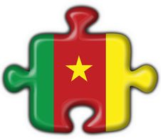 Cameroon American Button Puzzle Flag Royalty Free Stock Image