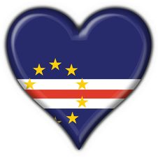 Free Cabo Verde Button Flag Heart Shape Royalty Free Stock Photography - 4686627