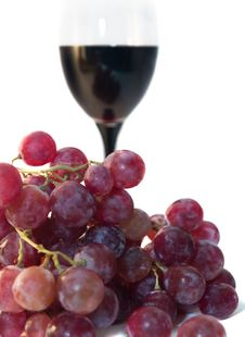 Grape And Vine Royalty Free Stock Photo
