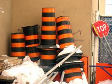 Free Traffic Barrels Stock Photos - 4688073