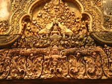 Free Carving At Angkor Wat Stock Photography - 4688712