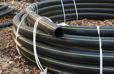 Plastic Sewer Pipe Royalty Free Stock Image