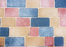 Free Colored Background And Texture From Paving Slabs Stock Photo - 46811450