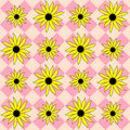 Free Yellow Black Eyed Susan On Plaid Stock Photography - 4696792