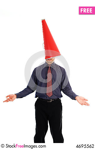 Free Cone Head Man Stock Photography - 4695562