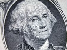 Free One Dollar Bill-Washington On A Slant Stock Image - 4690011