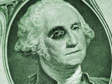 Free One Dollar Bill-Washington With Black Eye Royalty Free Stock Photography - 4690017