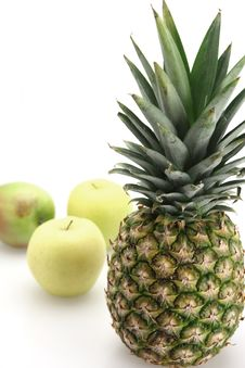 Free Fresh Pineapple And Apples Stock Photography - 4690042