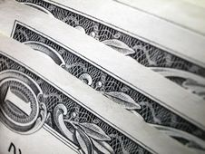 Free One Dollar Bill-Three Edges Stock Photo - 4690060