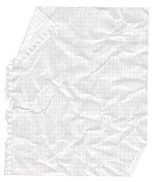 Crushed Notebook Sheet.