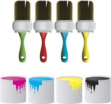 Free Brushes And Cans Royalty Free Stock Photo - 4690975