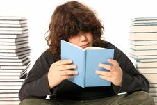 Free Boy Reading A Book Royalty Free Stock Photos - 4691728