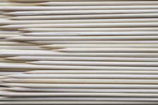 Sharpened Bamboo Skewers Royalty Free Stock Images