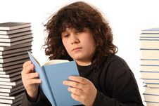 Free Boy Reading A Book Stock Photography - 4691912