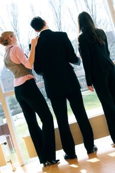 Business Team In An Office Building Stock Photos