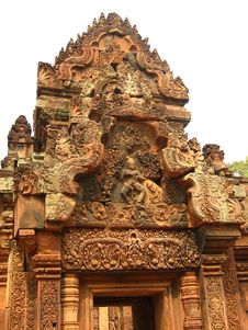 Free Wood Carving On A Temple In Angkor Wat, Cambodia Royalty Free Stock Photography - 4692587