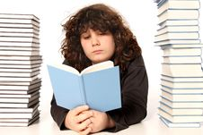 Free Boy Reading A Book Royalty Free Stock Photography - 4692657