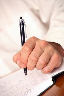 Businessman With Pen Stock Images