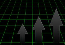 Black Graph Stock Image