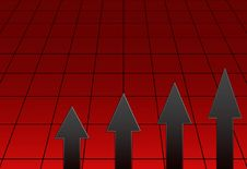 Red Graph Royalty Free Stock Photo