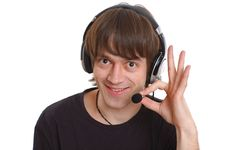 Free Man With Microphone Royalty Free Stock Photo - 4694015