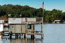 Free Dock House Royalty Free Stock Photography - 4695087