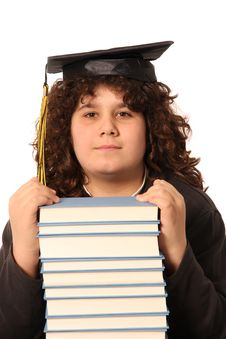 Free Boy And Many Books Stock Photography - 4695172