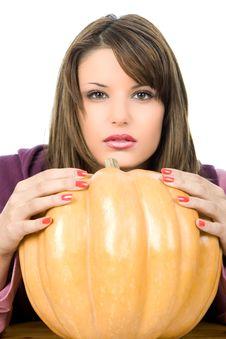 Free Big Pumpkin Royalty Free Stock Photography - 4695267