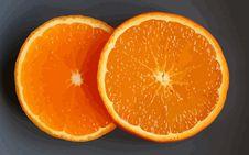 Free Two Orange Slices Stock Photos - 4695323