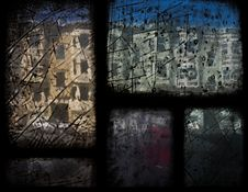 Free Building Viewed Through Antique Stained Glass Stock Image - 4695391