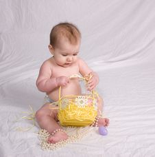 Free Baby First Easter Royalty Free Stock Photography - 4695487