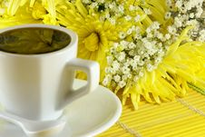 Free Morning Cup Of Coffee With Flowers Stock Images - 4695504