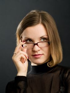 Free Portrait Of Girl With Glasses Stock Image - 4695711