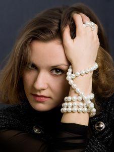 Retro-styled Girl Stock Image
