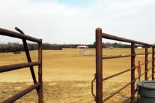 Free Gate At Horse Farm Royalty Free Stock Image - 4697096