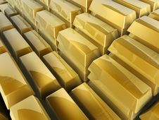 Free Gold Bars Steps Royalty Free Stock Photography - 4698627