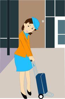 Free Stewardess Stock Image - 4698671