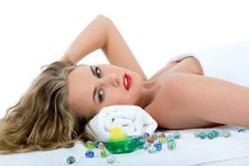 Free Attractive Woman Getting Spa Treatment Royalty Free Stock Photography - 4699407