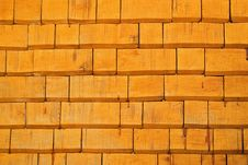 Textures – Wooden Façade (Orange) Royalty Free Stock Photography
