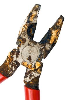 Free Corroded Pliers W/ Path (Close View) Stock Photo - 472100