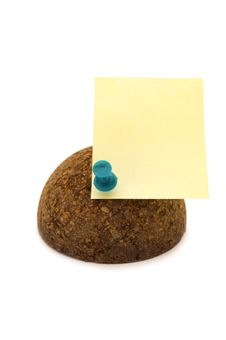 Free Cork Sphere With Pinned Note Royalty Free Stock Photos - 472488