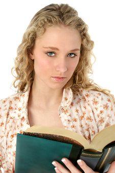 Free Beautiful Woman With Book Stock Photo - 472830