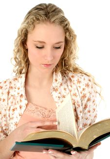 Free Beautiful Young Woman With Book Stock Photography - 472832